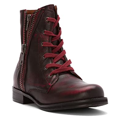 Amazon.com | Mia Heritage Fatina Women Leather Ankle Boot | Ankle ...