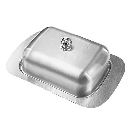 Lovebay Acero Inoxidable Mantequillera con Tapa, Accesorio de Cocina Tradicional | Apto para lavavajillas