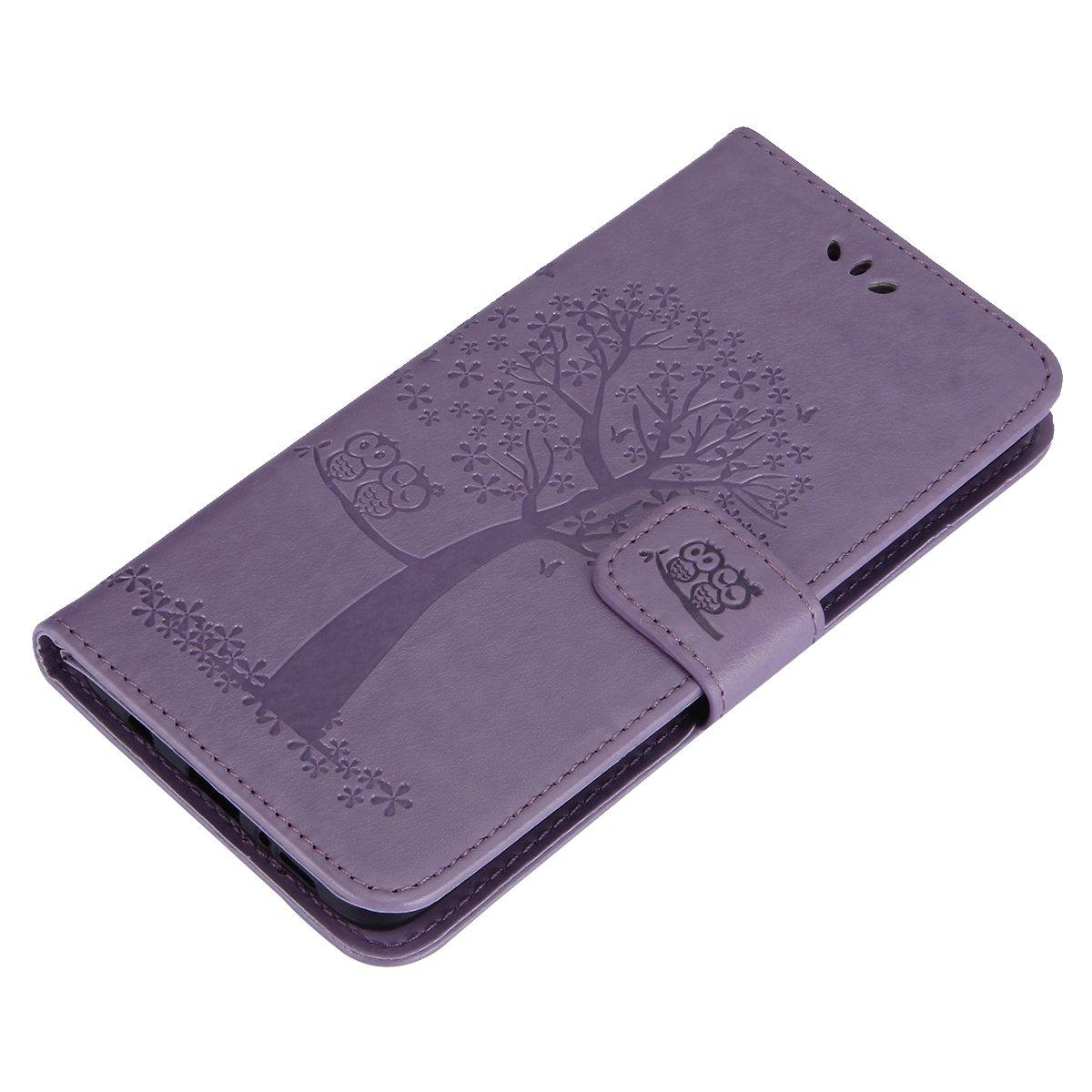 AntiGraffio Compatibile con Cover Galaxy S9 Plus,Blu//Gufo MoreChioce Compatibile con Custodia Galaxy S9 Plus Cover Libro,Portafoglio//Wallet Case e Gufo in Rilievo Custodia in Pelle