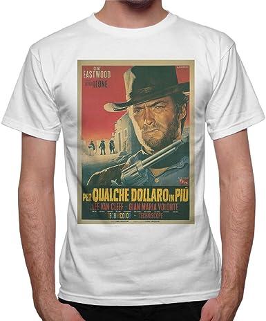 Clint Eastwood Grey T-Shirt Cowboy Western Spaghetti Mule quote