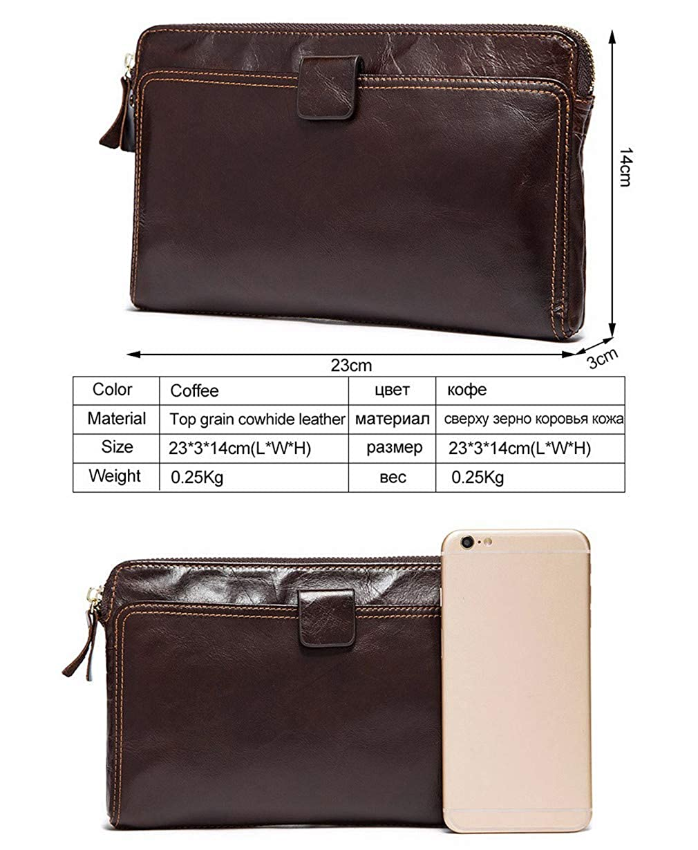 Genuine Leather Wallet Mens Wallets For Card Holder Clutch Male Bags Coin Purse