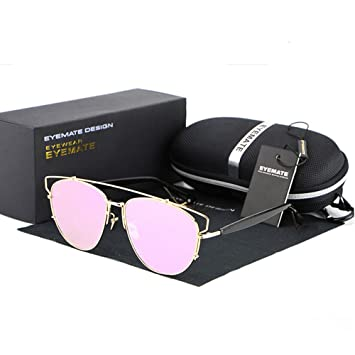 94a8919f1d Lnabni Women s Cat-Eye Driving Sunglasses Polarized Outdoor Sport glasses  Goggles 100% UV Protection (Pink)