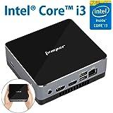EZbox i3 ミニPC, Intel Core i3-5005U 【メモリ8GB+128GB SSD】手のひらサイズ便携PC 高効率パワー デスクトップパソコン 多ポート/Win10搭載/無線+有線LAN/Bluetooth