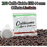 cialdissima 200 CIALDE ESE CAFFÈ 44 mm FILTRO IN CARTA GUSTO INTENSO !