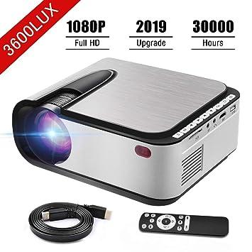 Proyector de Video,1080P Full HD Proyector LED Proyector de Cine ...
