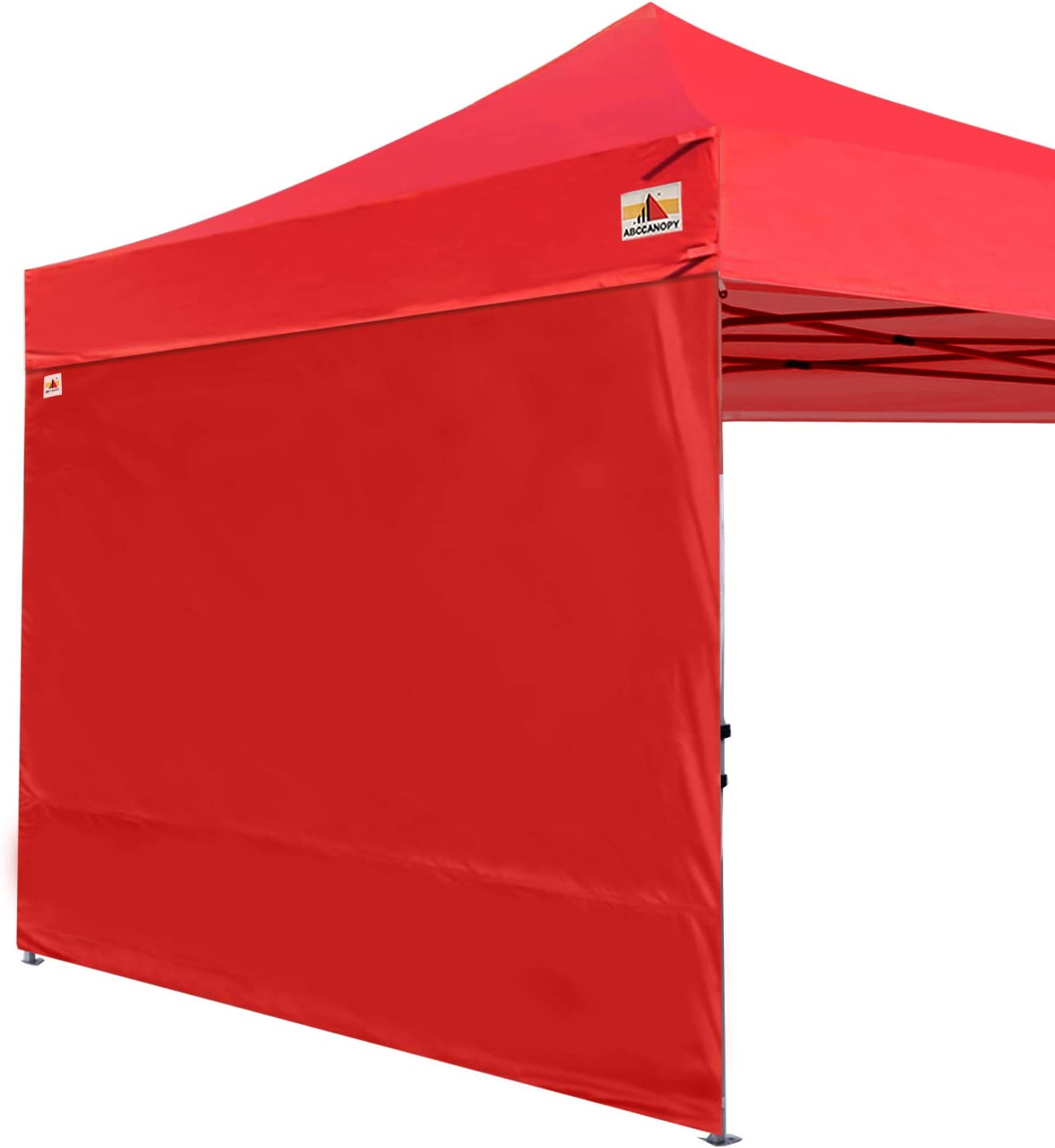ABCCANOPY Instant Canopy SunWall (15+Colors) for 10x10 Feet, 10x20 Feet Straight Leg pop up Canopy, 1 Pack Sidewall Only, Red