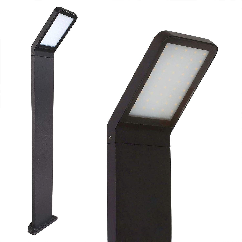 Standleuchte Ohne Bewegungsmelder LED Standleuchte 80cm 10W Außenleuchte Außenlampe Wegeleuchte Pfostenleuchte 337-800 Standlampe