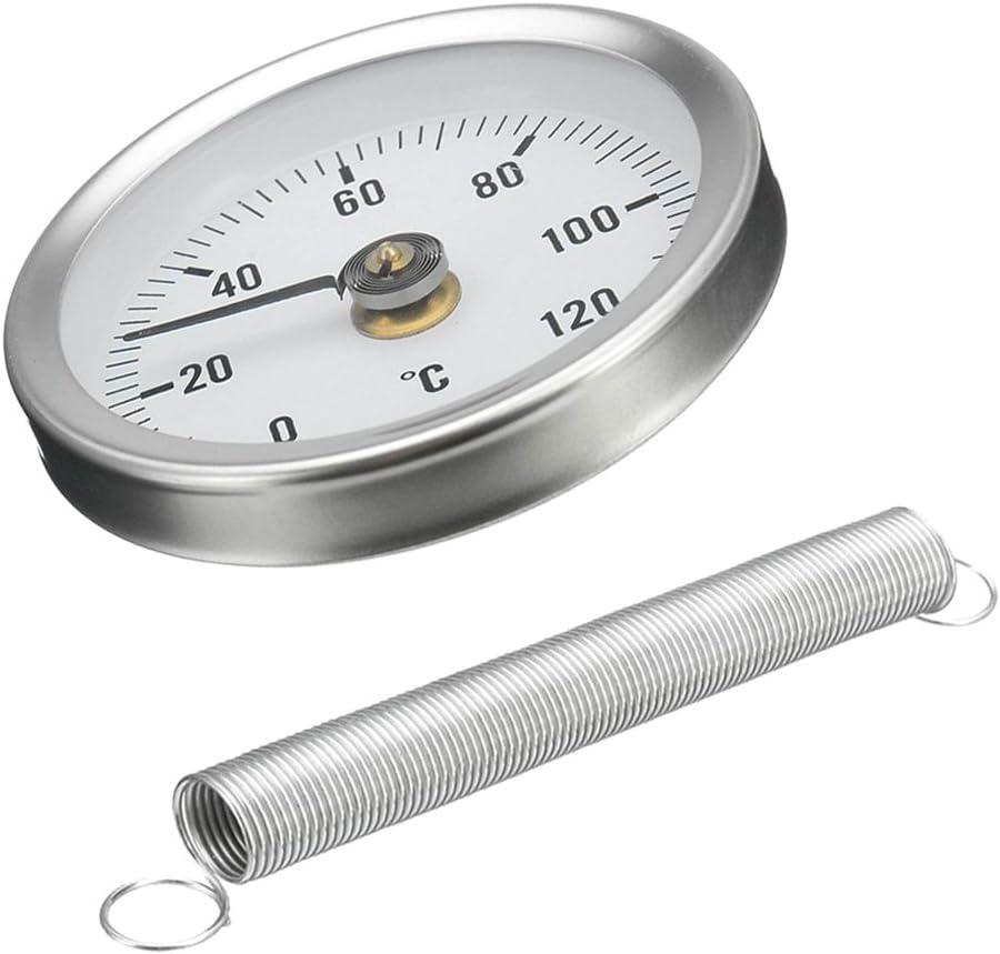 4 X Rohr Thermometer Temperaturanzeige Mit Clip On Feder 0 120 63mm Baumarkt
