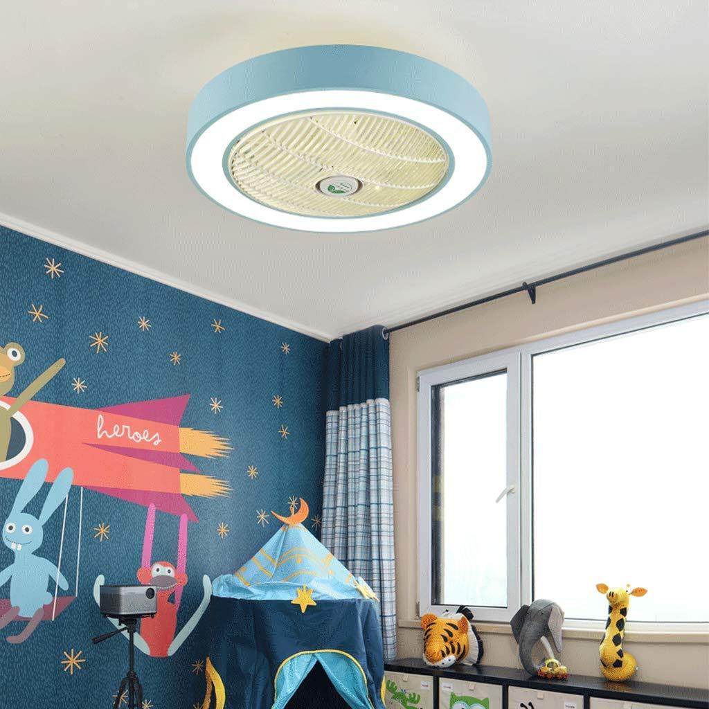 Slz ventilateur de plafond plafonnier lampe de plafond cr/éatif LED ventilateur de plafond dimmable avec /éclairage et t/él/écommande chambre de jardin silencieuse 60 * 24cm ,Gray