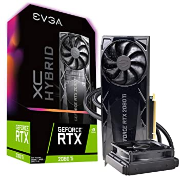 EVGA GeForce RTX 2080 Ti XC Hybrid Gaming, 11GB GDDR6, Hybrid & RGB LED  Graphics Card 11G-P4-2384-KR