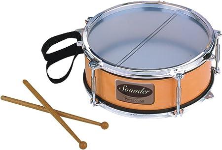 Children/'s Wooden Handheld Blue Mini Drum Double-sided Percussion Drum Instrumen