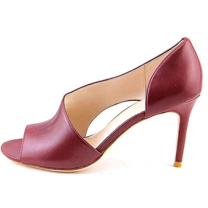 9dd860e40b Amazon.com | Cole Haan Viveca OT. Pump Women US 10 Burgundy Open Toe Heels  | Pumps