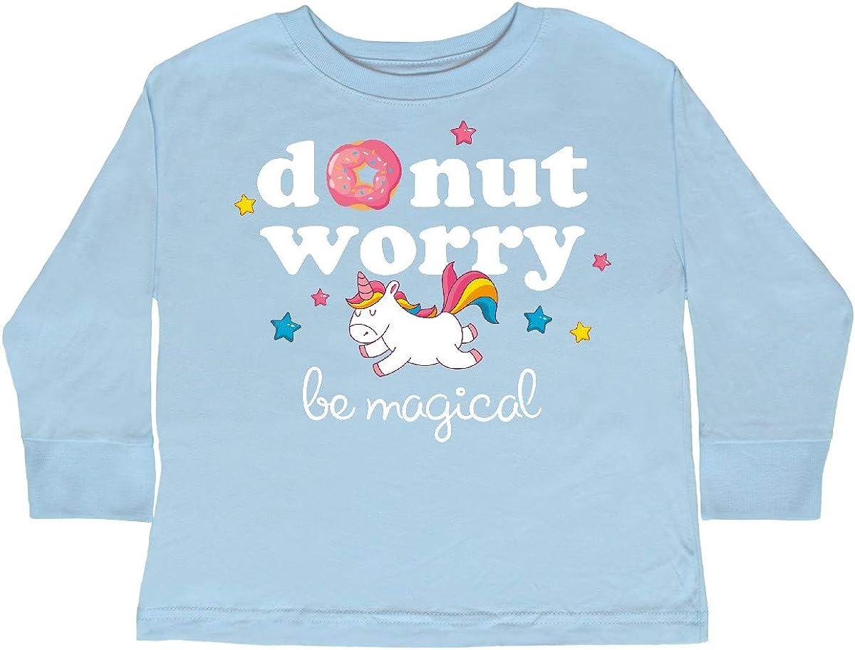 inktastic Donut Worry Unicorn Toddler Long Sleeve T-Shirt