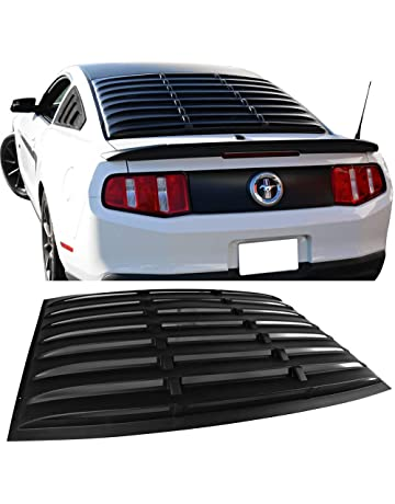 Window Louver Fits 2005-2014 Ford Mustang|| ABS Matte Black Rear Cover By