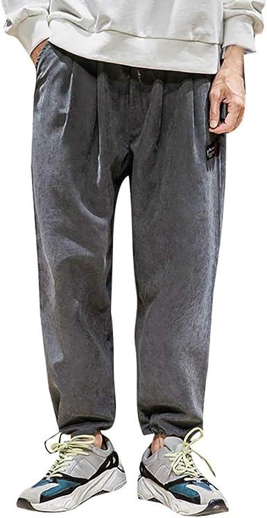 Hombre Casual Forrado Holgado YOGA //deporte//Elástico// playa pantalones largos