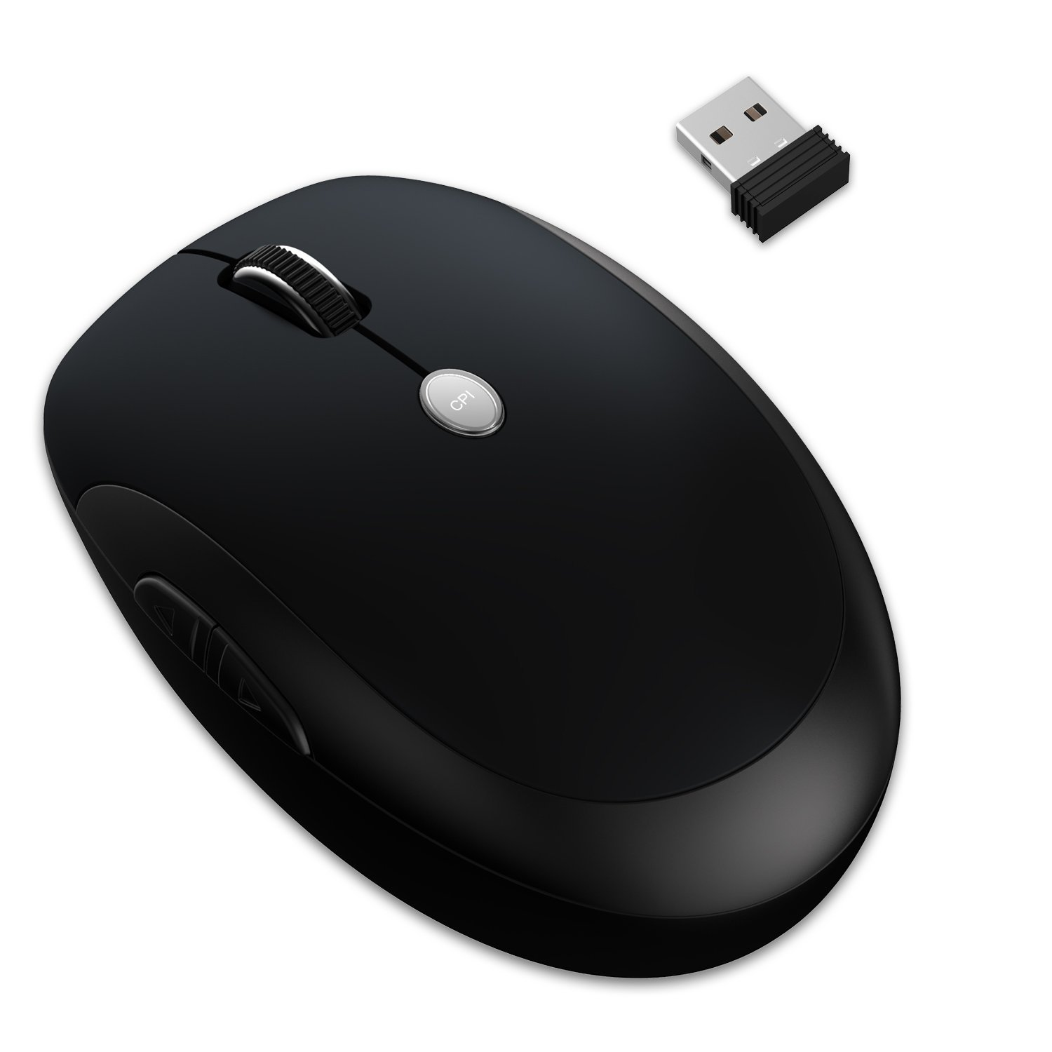 JETech M0886 2.4Ghz Wireless Mobile Optical Mouse w/6-Month Battery Life - Black 30%OFF
