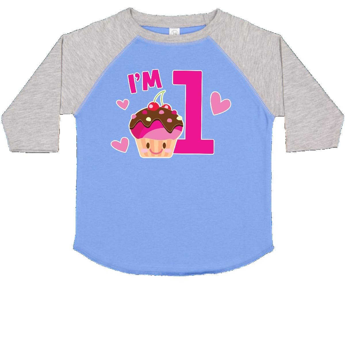 inktastic Im 1 with Cute Cupcake and Hearts Toddler T-Shirt