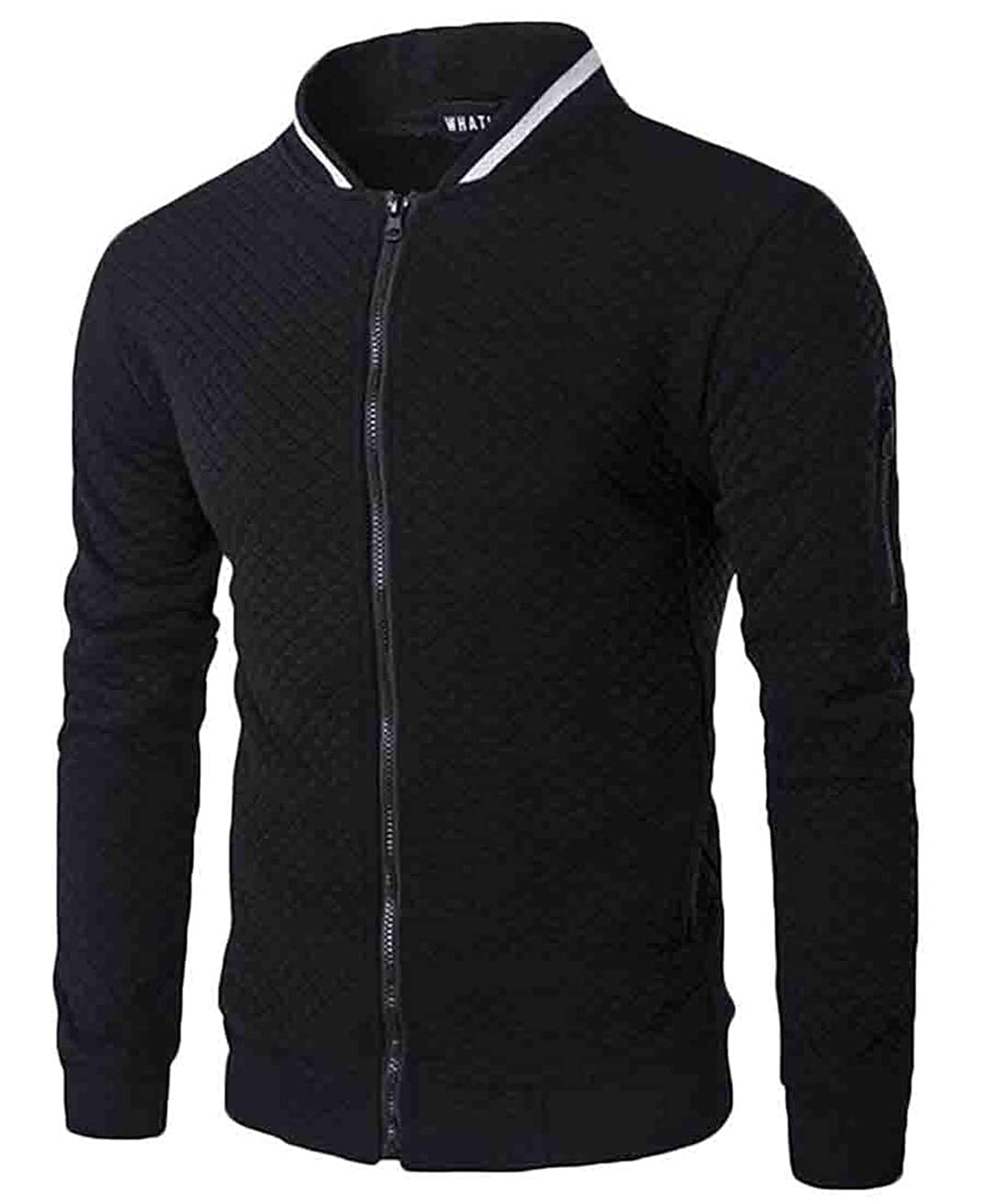 VaeJY Mens Turtleneck Pullover Velvet Fleece Loose Fit Sweatshirt