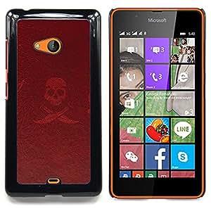 - Pirate Sign Symbol Slogan Skull Swords - Caja del tel????fono delgado Guardia Armor- For Microsoft Nokia Lumia 540 N540 Devil Case