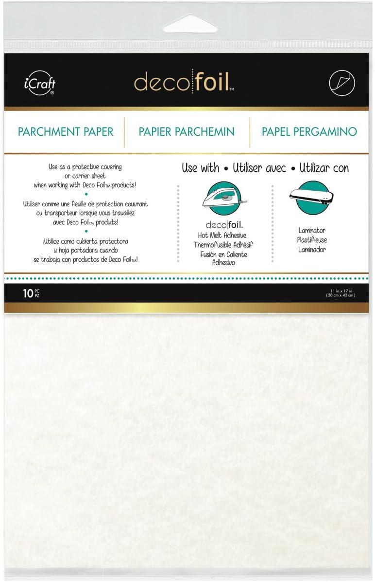 10 Pack Thermoweb Deco Foil Parchment Paper 11 by 17