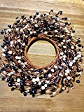 """Pip Berry Combo Wreath 13"""" White and Black"""
