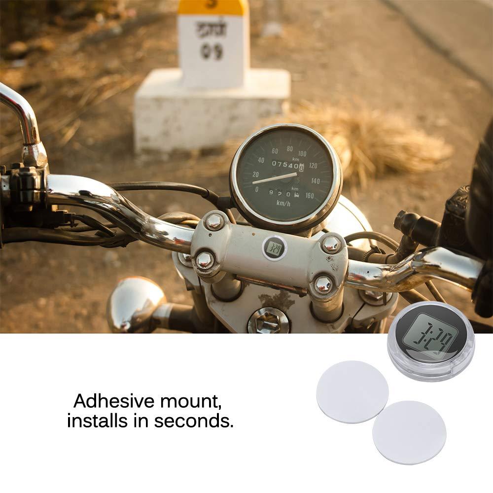 HITECHLIFE Orologio Moto Impermeabile e Resistente agli urti Orologio Digitale Piccolo 3M Adesivo Nero