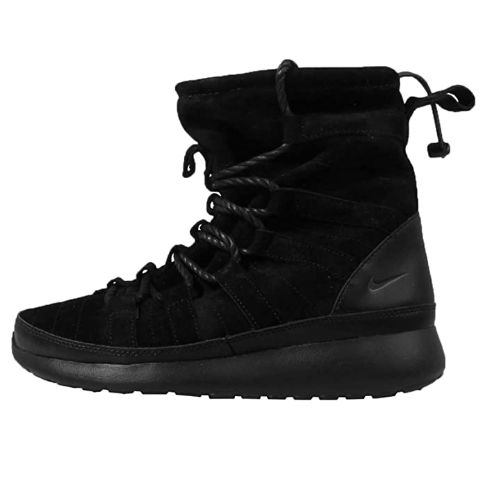 0361e13767de ... sale amazon nike womens wmns roshe one hi suede black anthracite 7 us  sports outdoors 29b10