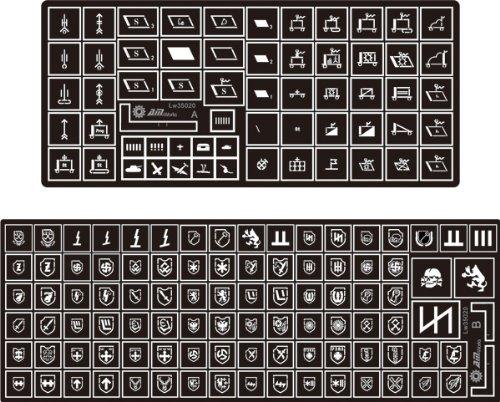 Ss Detail Set (Alliance Model Works 1:35 Stencil German Symbols Waffen-SS Detail Set #LW35020)