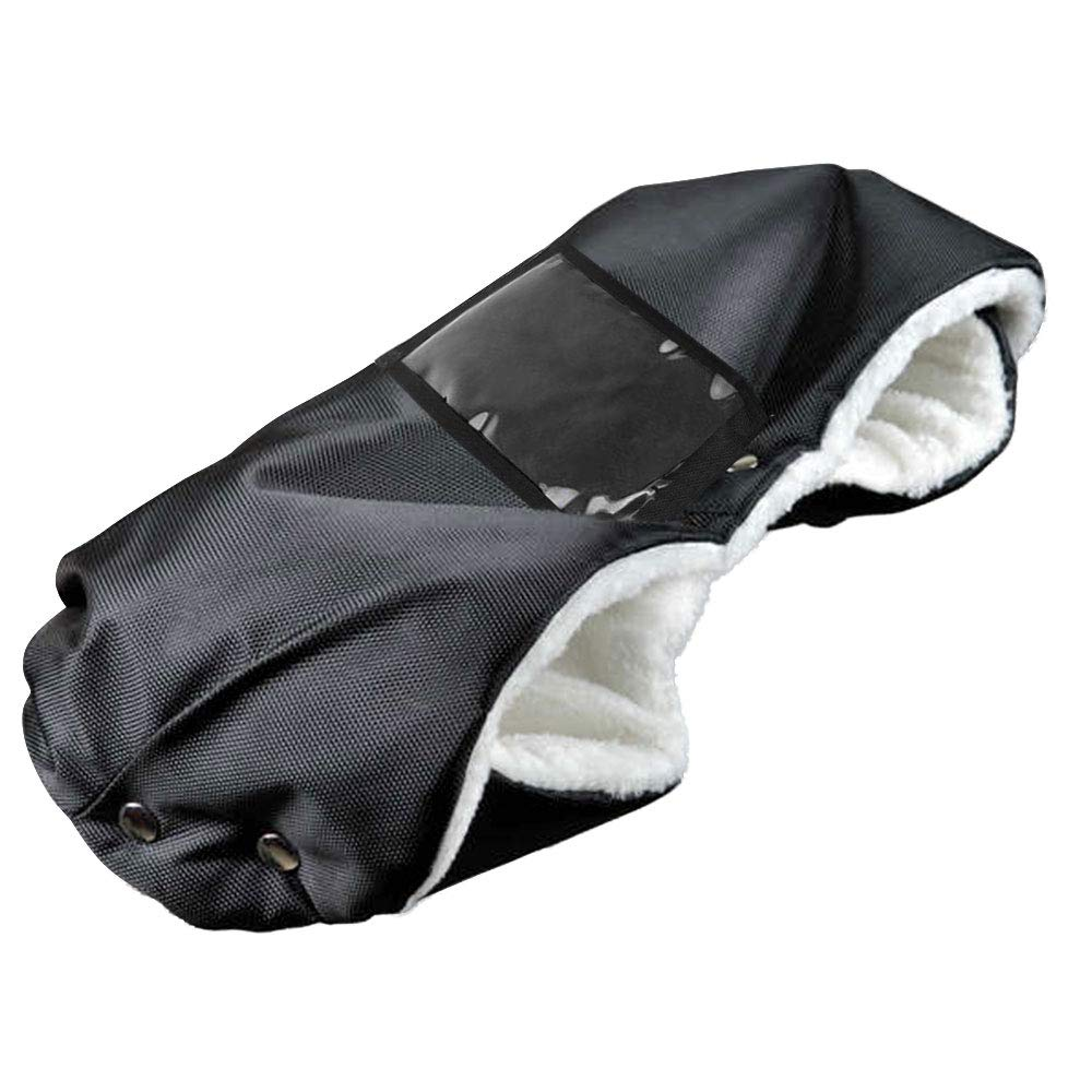 55cm Reinefleur Gant Poussette B/éb/é Prot/ège-Mains Doux Chaud Coupe-Vent Gant Antigel Gants Chauffe-Mains Protection des Mains Moufle Poussette pour Canne Poign/ée Hiver Landau 48