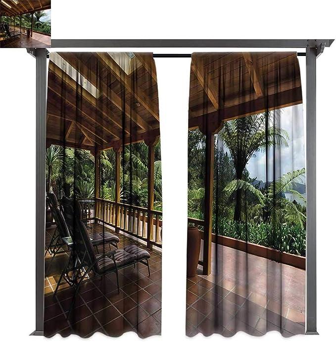 Marilds Patio Cortina Personalizada con árboles de Olivo en Cielo Abierto, para decoración de Fotos y drenajes de Bloqueo: Amazon.es: Jardín