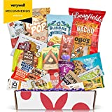 Healthy Vegan Snacks Care Package: Mix of Vegan Cookies, Protein Bars, Chips, Vegan Jerky, Fruit & Nut Snacks, Great Vegan Christmas Baskets