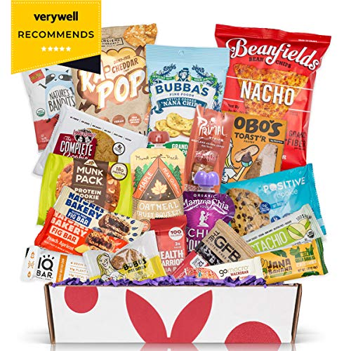Healthy Vegan Snacks Care Package: Mix of Vegan Cookies, Protein Bars, Chips, Vegan Jerky, Fruit & Nut Snacks, Vegan Gift Box