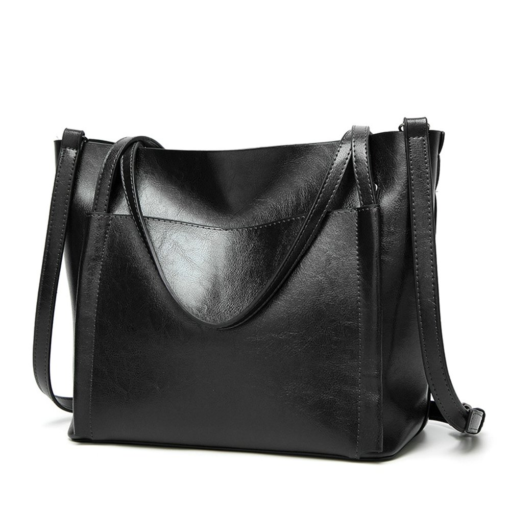 Obosoyo Women Shoulder Tote Satchel Bag Lady Messenger Purse Top Handle Hobo Handbags Black