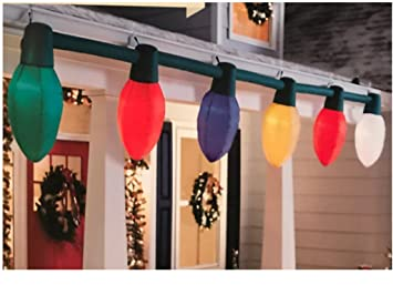 Amazon gemmy holiday living giant inflatable c9 christmas light gemmy holiday living giant inflatable c9 christmas light bulb string outdoor aloadofball Image collections