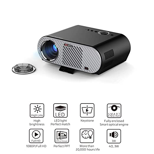 CWHALE Proyector de vídeo, Mini proyector 3200Lumens Android WiFi ...