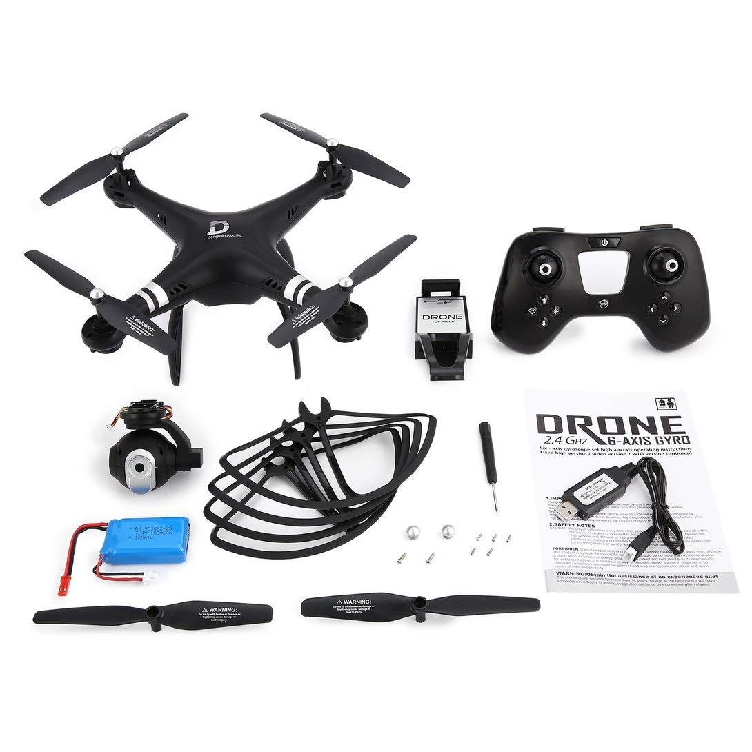 Swiftswan X8 RC Drohne 2.4G FPV RC Quadcopter Drohne mit 720P höhenverstellbarer Kamera-Höhen-Headless-Modus 3D-Flip 18 Minuten Langer Flug