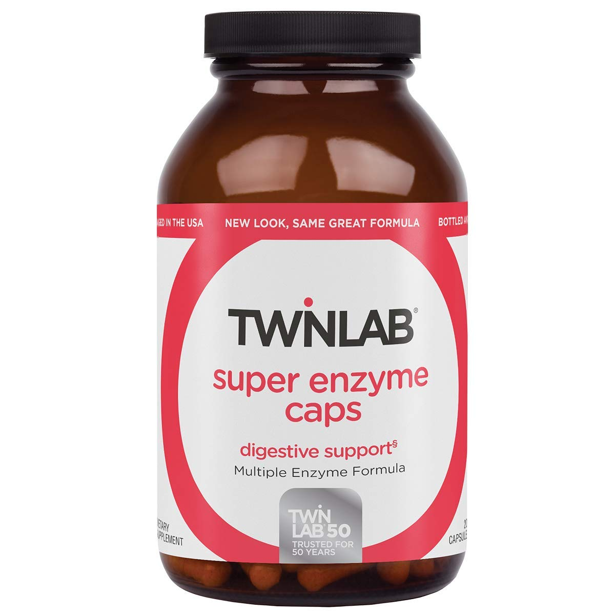Twinlab Super Enzyme Caps, Maximum Strength, 200 Capsules by Twinlab