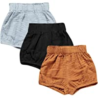 Baby Girls Ruffle Bloomer Shorts Toddler Cute Cotton Linen Panty Diaper Covers
