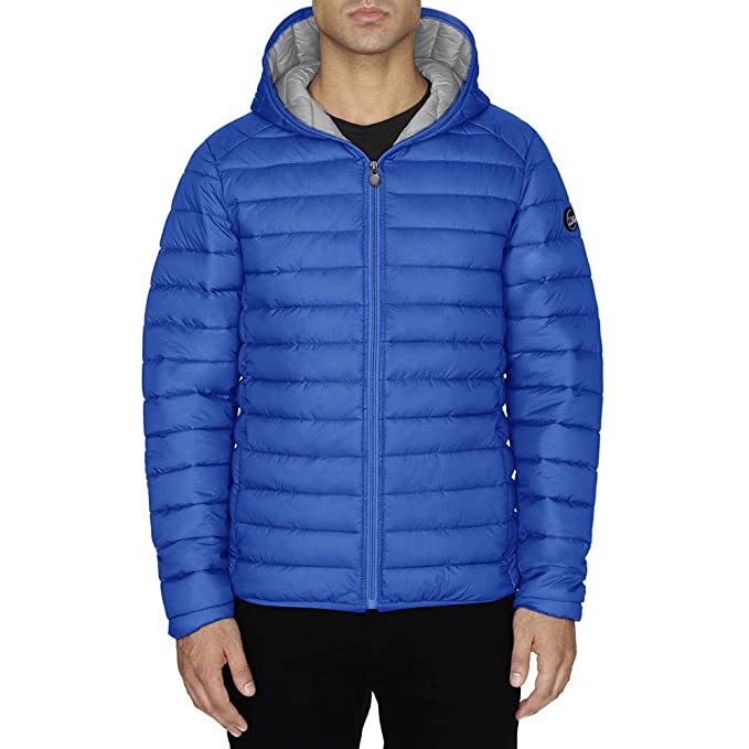 Chaqueta Hombre TWIG Ultralight Jacket 100gr Ultra Ligera Abrigo Parka Capucha Royal Blue (M)