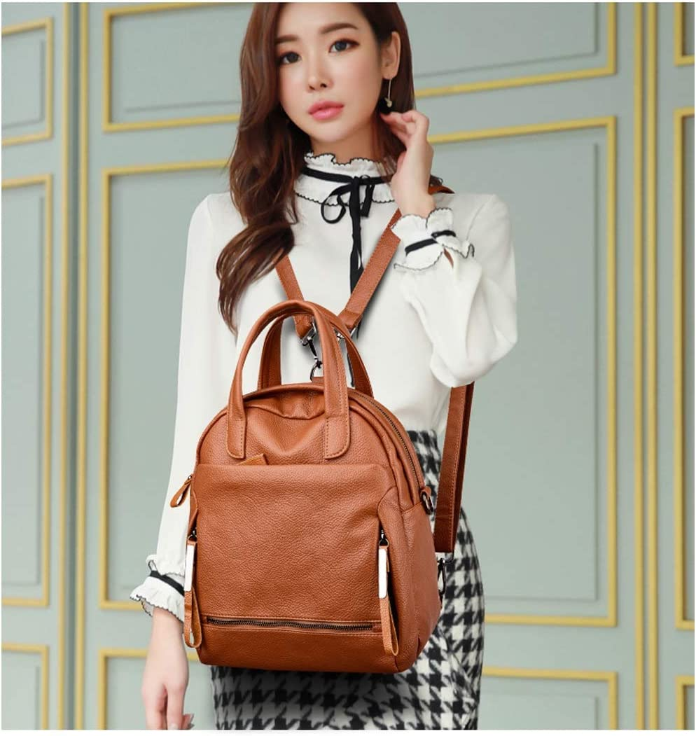 Latest Models Simple and Stylish Six Colors Guyuexuan Girls Multi-Purpose Backpack for Everyday Travel//Outdoor//Travel//School//Work//Fashion//Leisure PU Leather