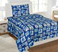 WPM Sailor Blue Bedding Set Whale Shark sea Creatures Boat Print Choose from Full/Twin Comforter or Bed Sheets or Window Curtains Panels for Kids/Girls/Boys Room