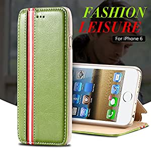 6 Plus Leather Case For iphone 6 Plus 5.5 Inch Wallet Mobile Phone Cases Stripe Support Bag Cover For iphone 6+ Shell YXF04662 --- Color:White