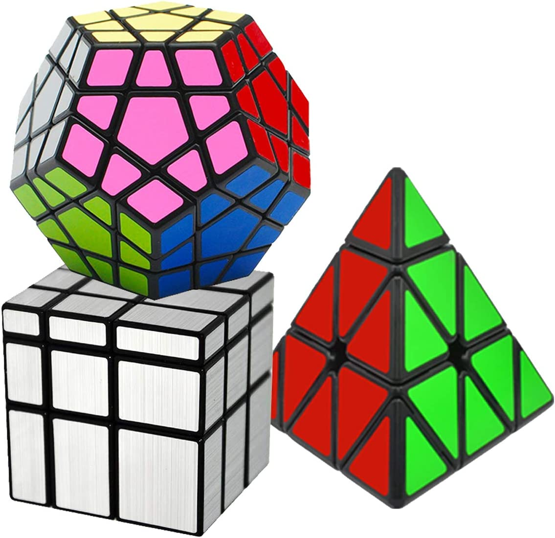 EASEHOME Speed Magic Puzzle Cube Megaminx + Pyraminx + Espejo in ...