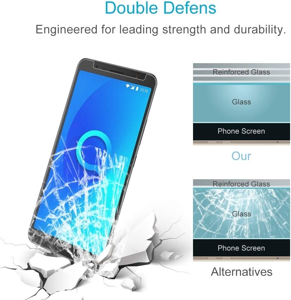 DESHENG Clear Screen Protector 100 PCS 0.26mm 9H 2.5D Tempered Glass Film for Alcatel 3C Glass Film