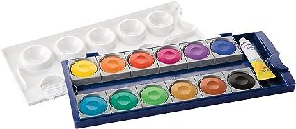 Pelikan 720854 - ACuarela Watercolors Premium K12, estuche fabricado en Alemania, 12 colores y 1 tubo blanco opaco: Amazon.es: Juguetes y juegos
