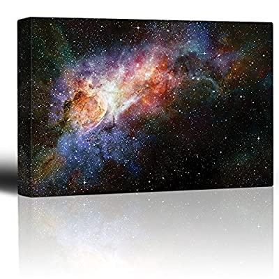 Colorful and Vibrant Starry Galaxy - Canvas Art Home Art - 24x36 inches