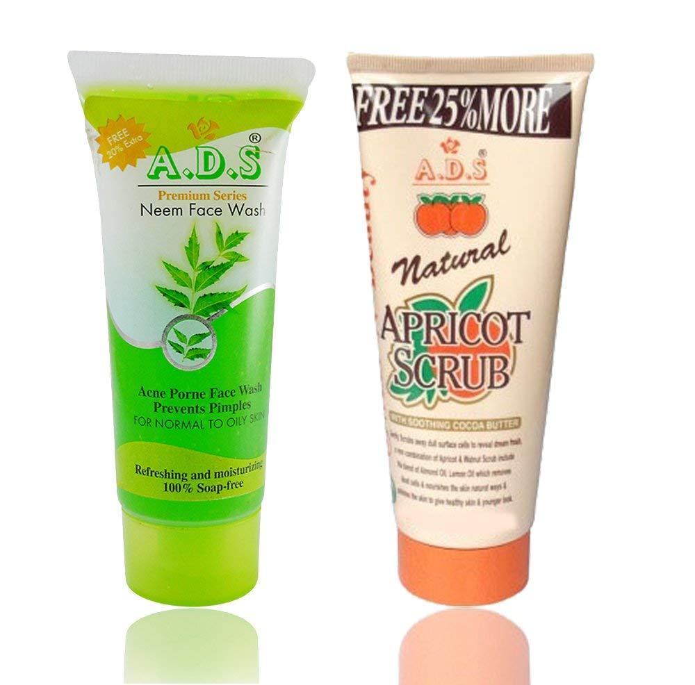 Ads Face Wash 60 12ml And Apricot Scrub 212g Viveka Acnes Natural Care Yogurt Beauty
