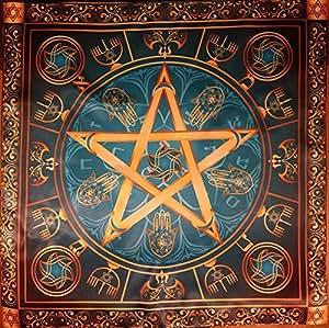 Grupo de la estrella de brujas de Wicca - estrella Wicca