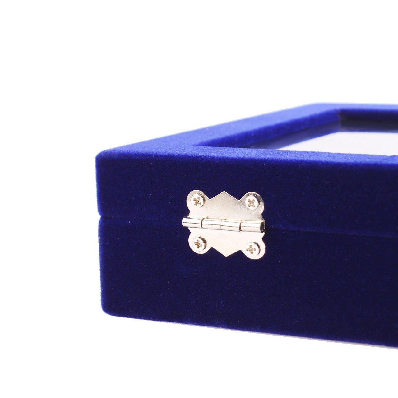 Juanza organizador caja de almacenamineto franela para joyerias anillos pulsera collar pendientes