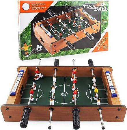 XLOO Mesa de futbolín portátil de Mesa para Adultos y niños - Mini Juego de fútbol de Mesa Compacto: Amazon.es: Hogar